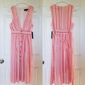 NWT Lulus Stripe V Neckline Sleeveless Maxi Dress